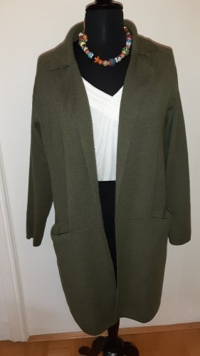 kilky Knitted Coat olive green