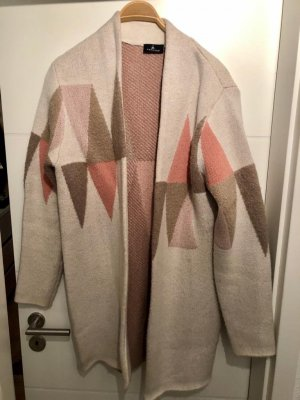 One step Manteau en tricot rose-beige