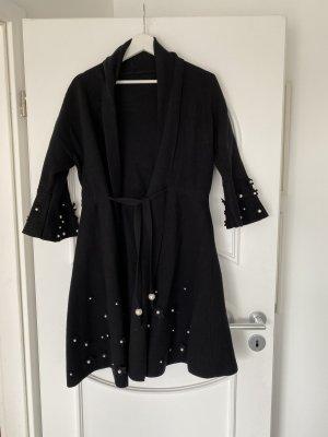 Abrigo de punto negro-blanco