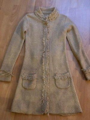 Blaumax Płaszcz z dzianiny jasnobeżowy-złoto