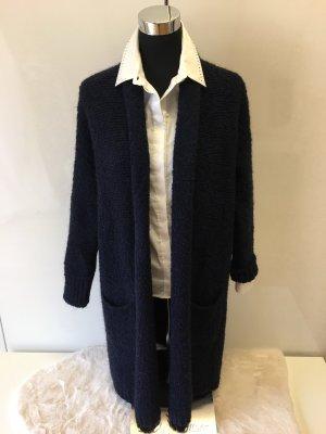 Italian Fashion Płaszcz z dzianiny ciemnoniebieski
