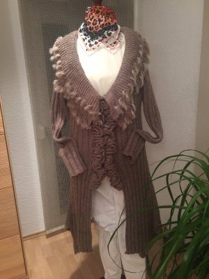 Manteau en tricot marron clair