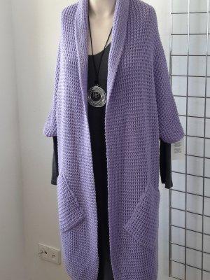 Made in Italy Abrigo de punto púrpura