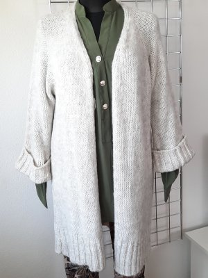 Made in Italy Manteau en tricot beige clair