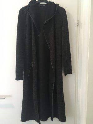 Gebreide jas grijs-zwart