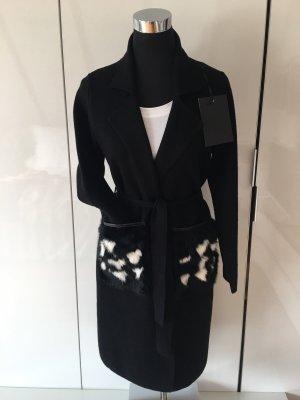 Made in Italy Gebreide jas zwart-wit