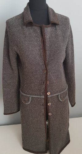 oui Moments Manteau en tricot gris-brun