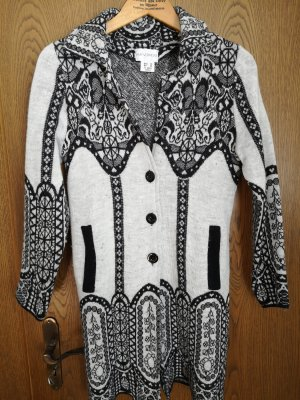 Amy Vermont Knitted Coat black-natural white