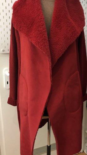 Beaumont Płaszcz z dzianiny ciemnoczerwony