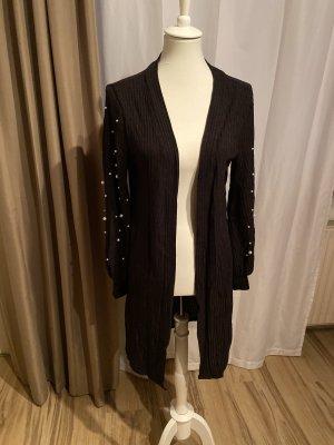 Knitted Coat black-white