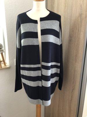 Bonita Manteau en tricot bleu foncé-argenté