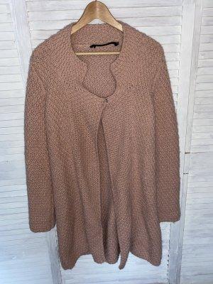Cappotto a maglia rosa antico