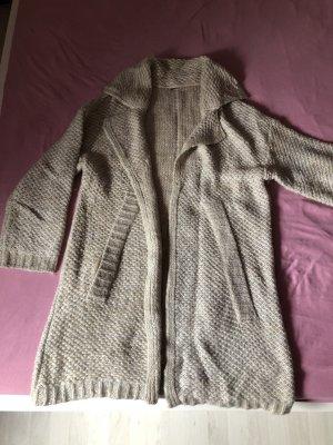 Tom Tailor Manteau en tricot crème