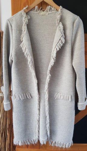SusyMix Cappotto a maglia crema