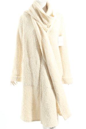 Knitted Coat cream mixture fibre