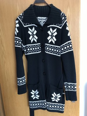 Tommy Hilfiger Knitted Coat white-black