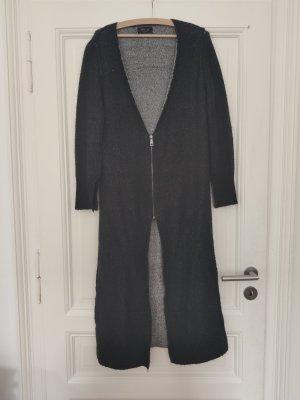 Zara Gebreide jas lichtblauw-donkerblauw