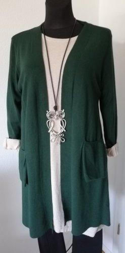 Made in Italy Gebreide jas donkergroen