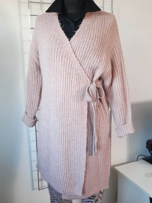 Made in Italy Manteau en tricot rosé