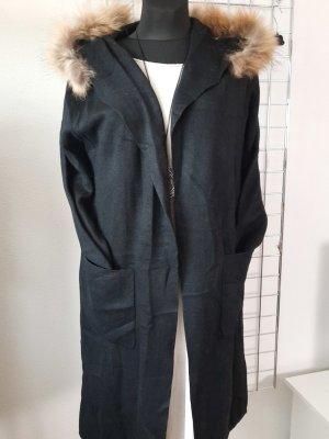 Made in Italy Manteau en tricot noir