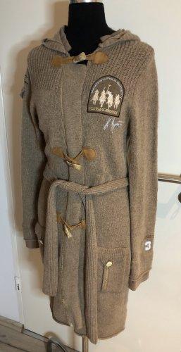 L'Argentina Knitted Coat camel mixture fibre