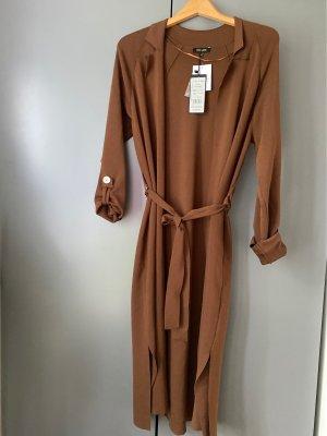 More & More Manteau en tricot brun tissu mixte