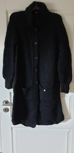 ODEON Knitted Coat black
