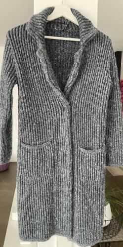 FREE / QUENT Abrigo de punto gris pizarra