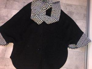 Cappotto a maglia nero-bianco