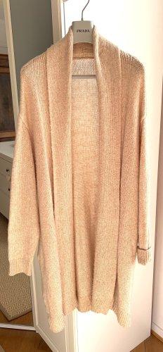 H&M Płaszcz z dzianiny nude