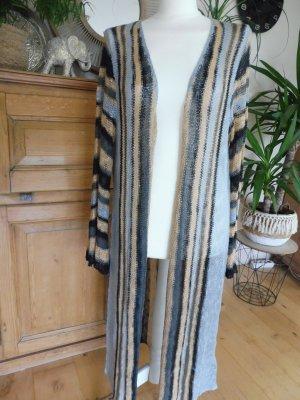 Rainbow Knitted Coat multicolored polyacrylic