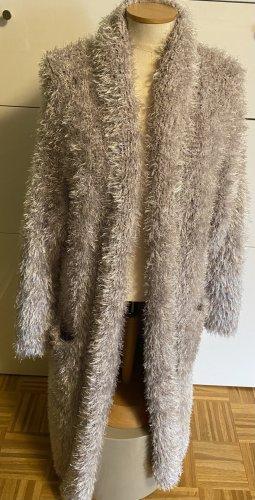 MAY Manteau en tricot gris clair tissu mixte