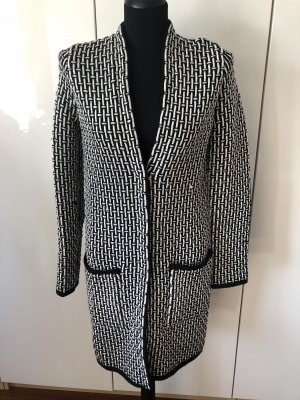 Escada Sport Knitted Coat black-natural white