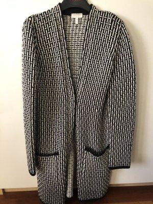 Escada Sport Knitted Coat black-natural white