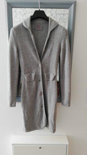 Cappotto a maglia grigio chiaro Mohair