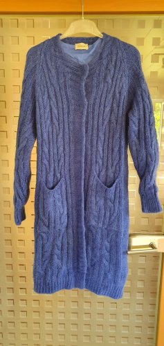 Dixie Knitted Coat blue mixture fibre