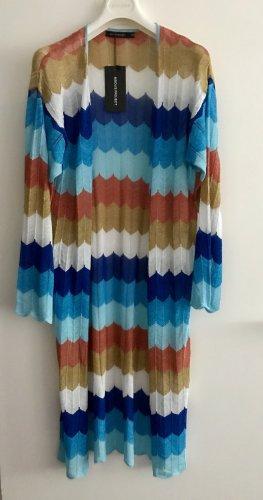 Cappotto a maglia multicolore