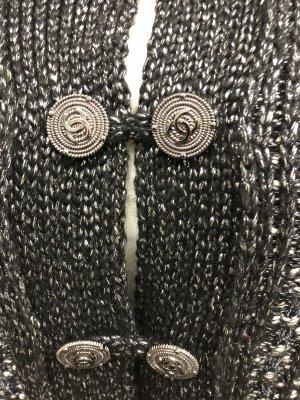 Cappotto a maglia nero Tessuto misto