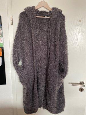 Manteau oversized gris-gris clair