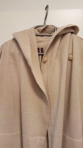 Rick owens Cappotto a maglia beige chiaro-beige