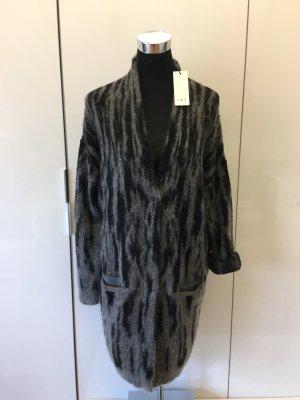 Set Gebreide jas zwart-grijs