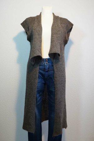Apanage Manteau en tricot gris brun laine alpaga