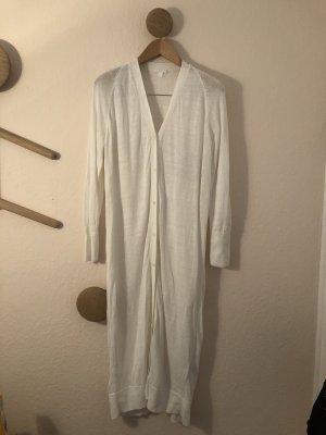 COS Manteau en tricot blanc lin