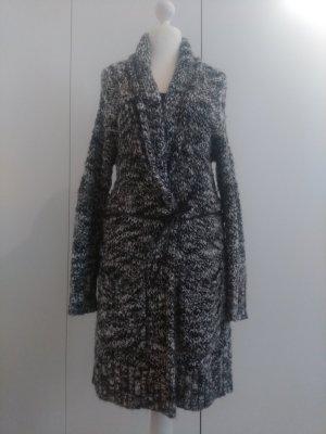 Esprit Płaszcz z dzianiny biały-czarny
