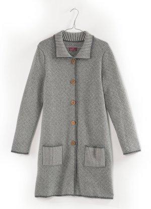 Manteau en tricot multicolore laine vierge