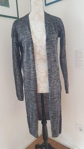 Mavi Abrigo de punto negro-gris oscuro