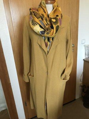 ZUSSS Cappotto a maglia giallo scuro-giallo-oro