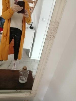 Edc Esprit Płaszcz z dzianiny żółty-złotopomarańczowy