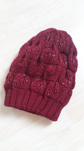 Knitted Hat carmine