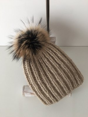 handmade unikat Sombrero de punto camel